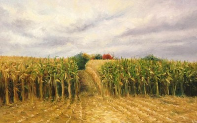 Corn field painting