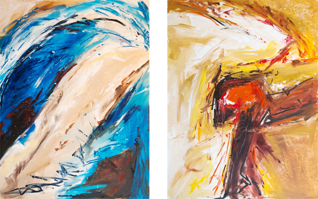 Strazza Jazz Paintings 1-2