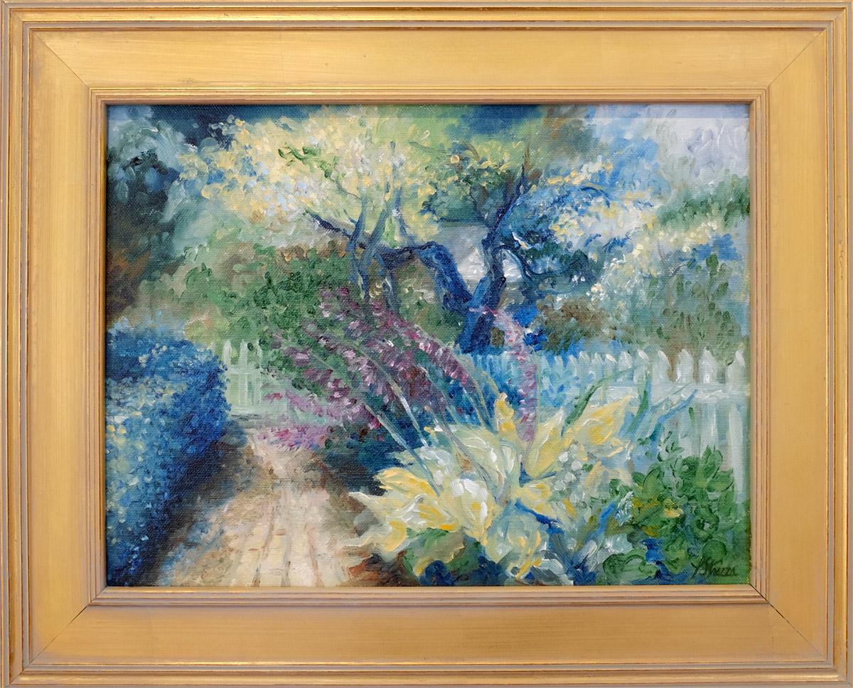 Strazza 1810 Garden - 9x12 Oil on canvas