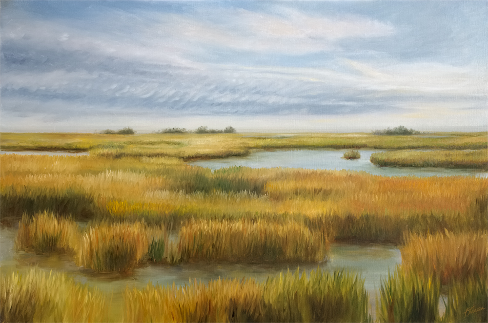 Strazza impressionistic of salt marsh in NC