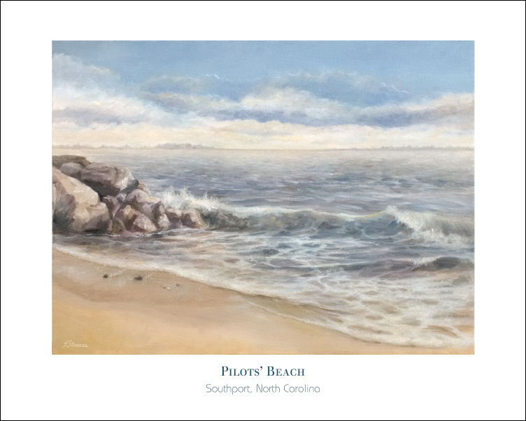 Pilots Beach painting by Lisa Strazza - Poster version