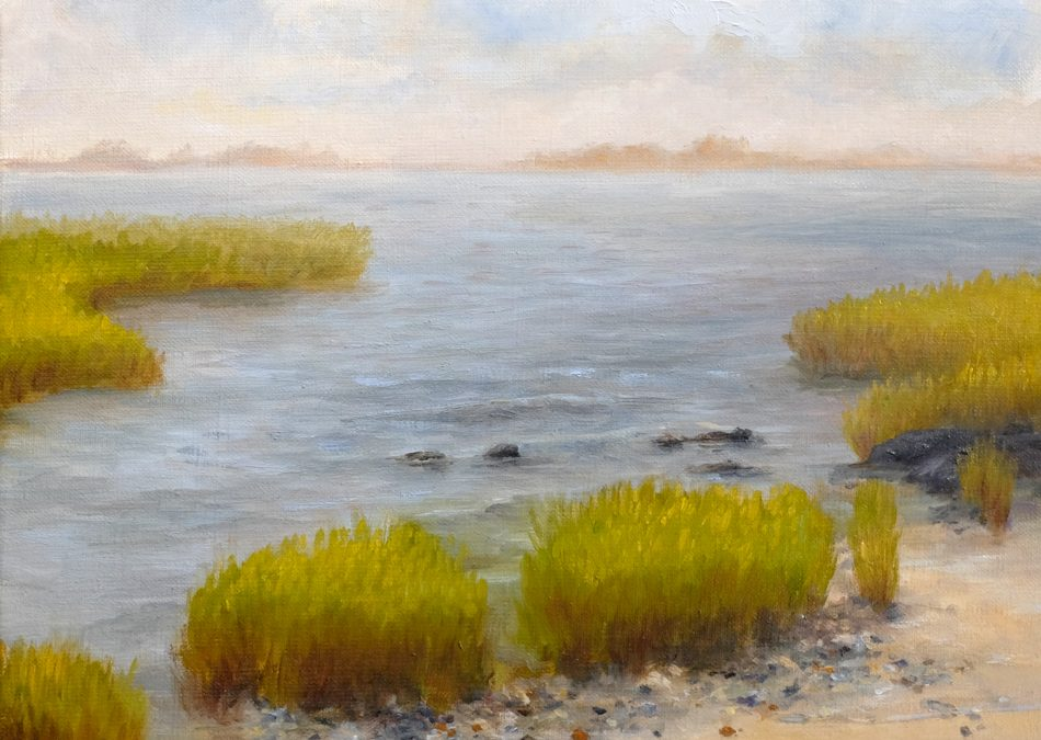 Pair of Small Coastal Paintings