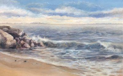 Coastal seascape of Southport