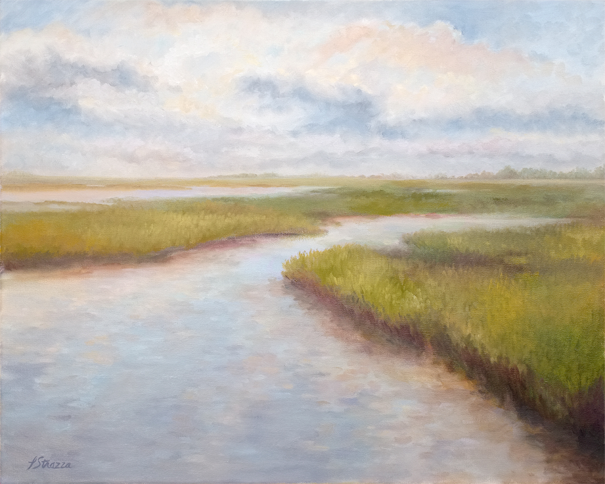 Low Country Dusk- painting by Lisa Strazza