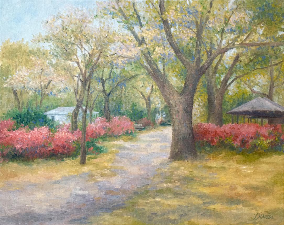 Lisa Strazza Azalea painting