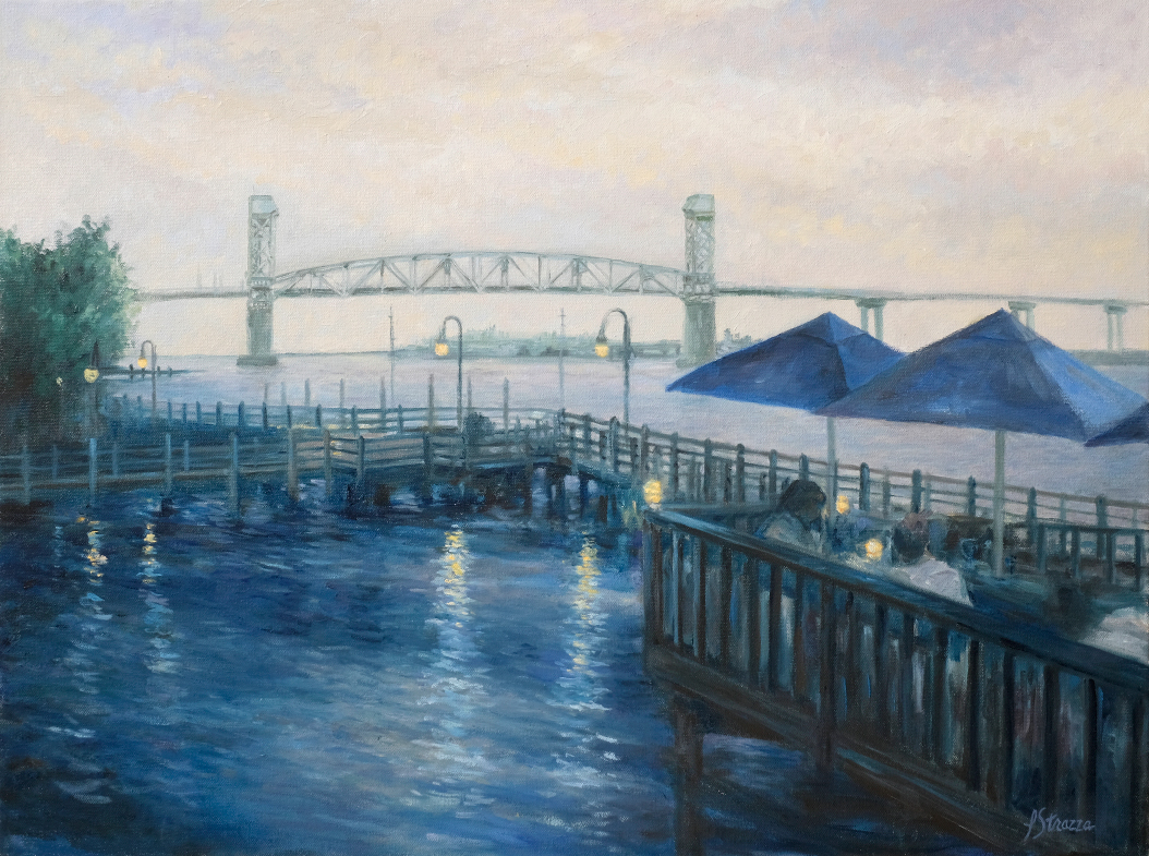 Wilmington Nights painting by Lisa Strazza